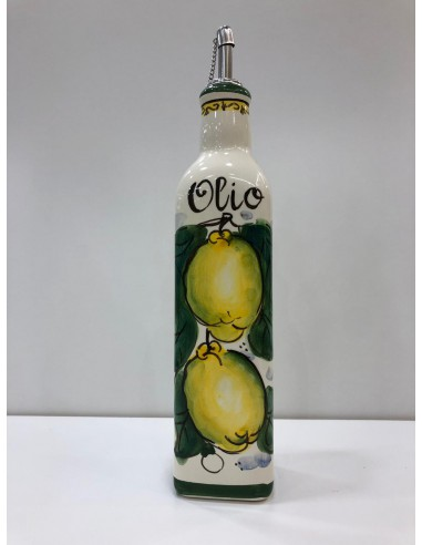 Sorrento Lemon Oil Bottle Hand Painted