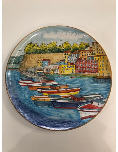 Wall-Plate Vietri Ceramic Landscape...