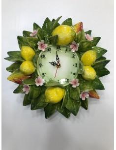 Capodimonte Clock Lemons Time