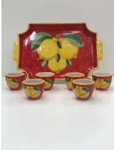 Tray and Coffee Cups Set...