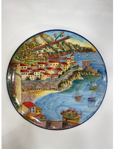 Plate with Landscape Amalfi