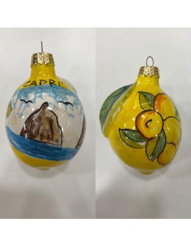 Christmas ball Small Lemon Capri...