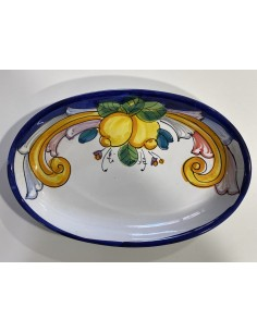 oval plate with lemons