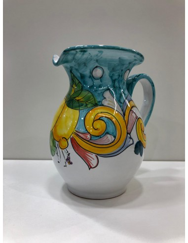 Jug in Ceramic Patterned Lemons Green...
