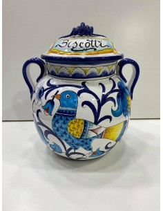 Hand painted biscuit jar