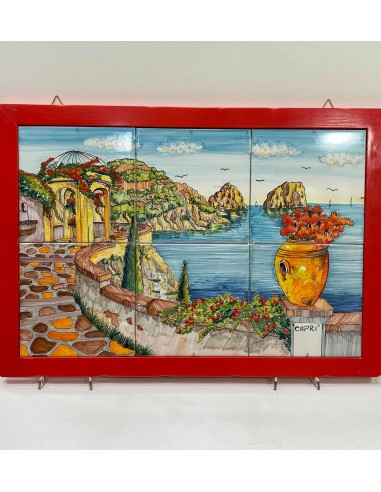 hand painted picture with capri...
