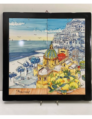 Hand painted picture with positano...