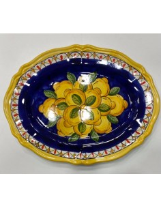 Hand painted serving plate