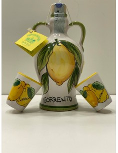 Limoncello bottle with glasses