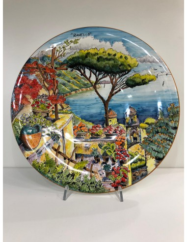 Ceramic Wall Plate with Ravello...