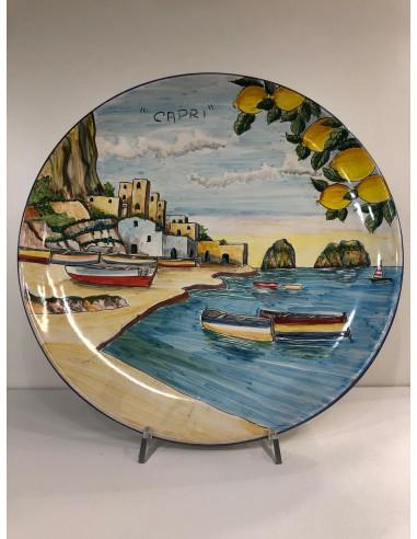 Ceramic Wall Plate with Capri Landscape