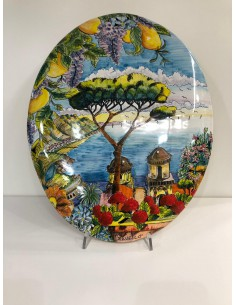 Ceramic plate along with...